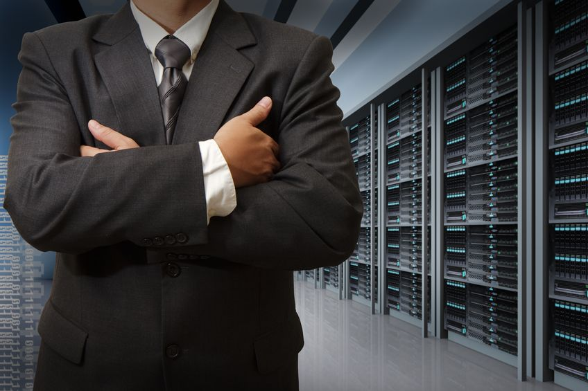 16097324 - business man engineer in data center server room