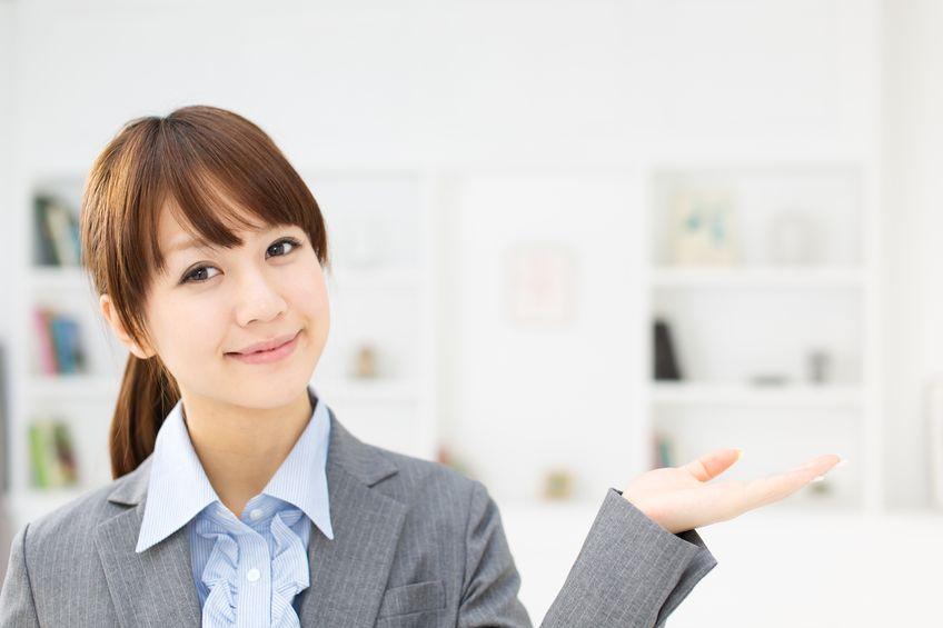 17273039 - beautiful asian businesswoman working in office