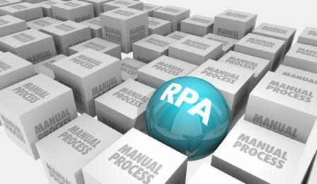 RPA Robotic Process Automation Reduce Manual Tasks 3d Illustration